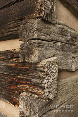 Cabin Corner Photograph - Exterior Corner Of A Wooden Building by Will and Deni McIntyre
