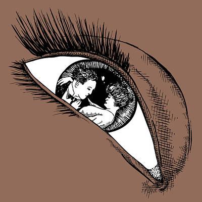 Eye Lashes Drawing - Eye by Karl Addison