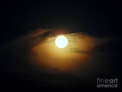 Eye Moon Print by Mariana Robu