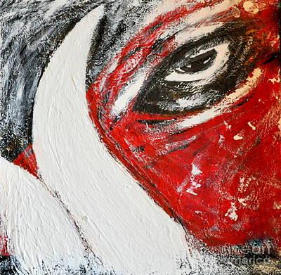 Arkansas Razorbacks Art Painting - Eye Of The Pig by Nicky Dou