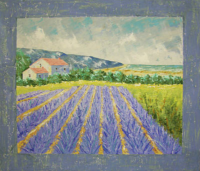 Eze Lavender South Of France Print by Frederic Payet
