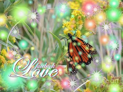 Laurence Van Oliver Digital Art - Facebook Love by Laurence Oliver