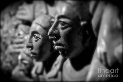 Carving In Stone Photograph - Faces In Crowd by David  Hubbs