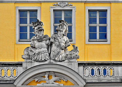 Reliefs Photograph - Faces Of Places In Dresden by Christine Till