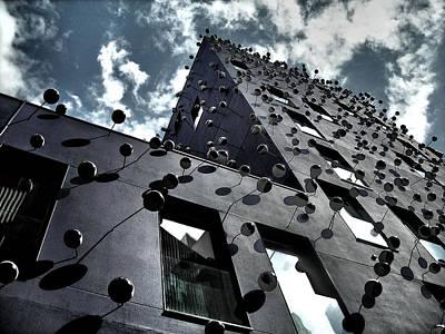 Architektur Photograph - Fachada Con Los Ojos - Barcelona by Juergen Weiss