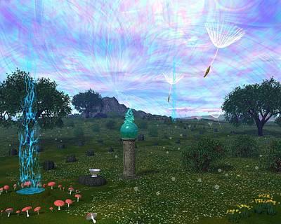 Windblown Digital Art - Faerie Led by Diana Morningstar