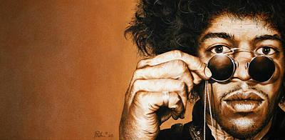 Jimmy Hendrix Painting - fahrenheit II by Mario Pichler