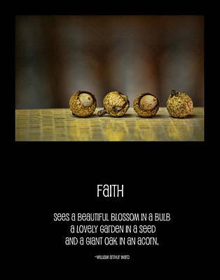 Acorn Digital Art - Faith by Bonnie Bruno