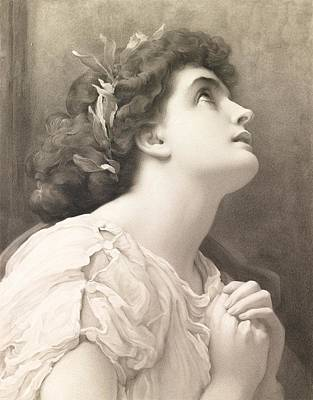 Faith Print by Frederic Leighton