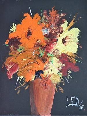 Fall Flower Arrangement 1 Print by Leo Gordon