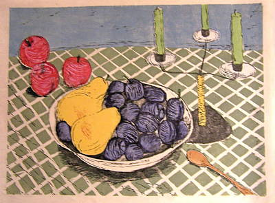 Plumb Painting - Fall Fruit by Andrew Jagniecki
