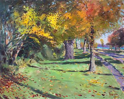 Fall In Goat Island Original by Ylli Haruni