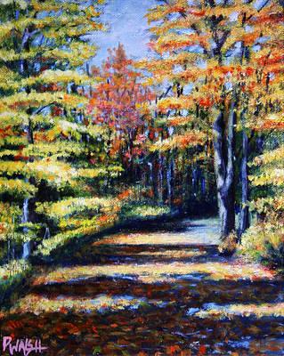 Foliage Painting - Fall Path by Paul Walsh