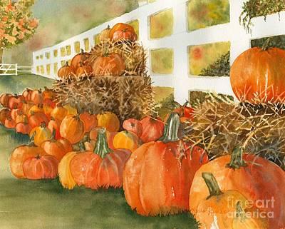 Fall Pumpkins Print by Laura Ramsey