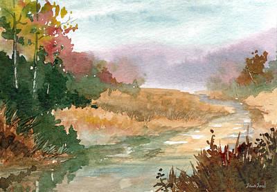 Fall Stream Study Print by Sean Seal