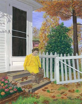 Fall Visit Print by Lori  Theim-Busch
