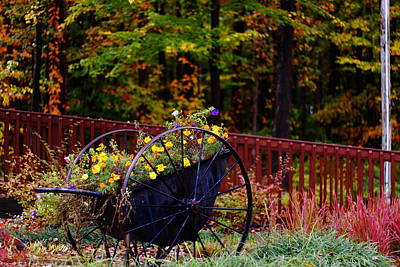 Fall Wagon Print by Kevin Schrader