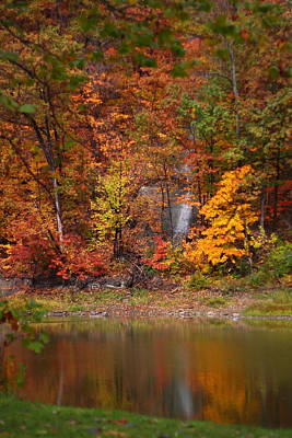 Fall Waterfall Print by Kevin Schrader