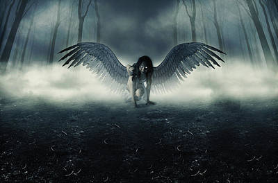 Fallen Angel Print by Ryan Shaffer
