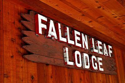 Beach Photograph - Fallen Leaf Lodge by LeeAnn McLaneGoetz McLaneGoetzStudioLLCcom
