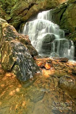 Ledge Photograph - Falling Through The Rocks by Adam Jewell