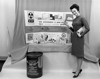 Fallout Shelter Supplies, Usa, Cold War Print by Us National Archives And Records Administration