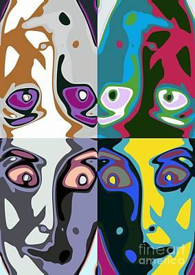 Girl Digital Art - Familiar Faces by Chris Butler