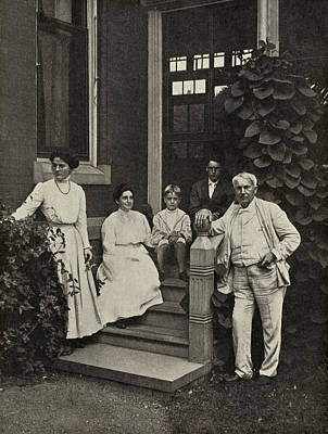 Thomas Alva Edison Photograph - Family Of Thomas Edison, Us Inventor by Humanities & Social Sciences Librarynew York Public Library