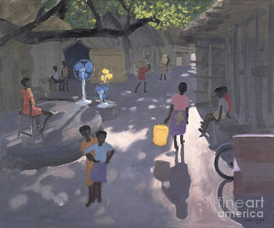 Fan Seller Print by Andrew Macara