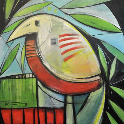 Yellow Beak Painting - Fancy Bird by Tim Nyberg