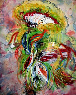 fancy Dancer II Print by Christine Chzasz