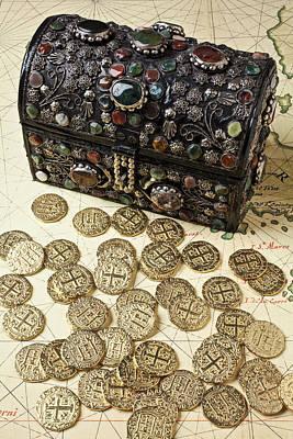 Treasure Box Photograph - Fancy Treasure Chest  by Garry Gay