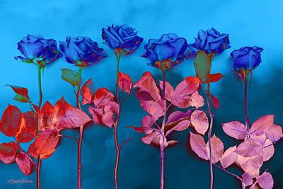 Fantasy Blues Print by Michelle Wiarda