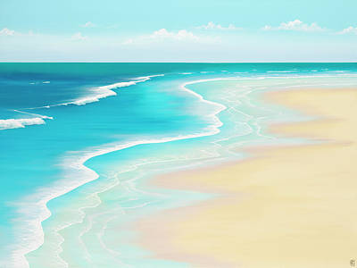 Surf Painting - Far Away Summer Thoughts by Colin Perini