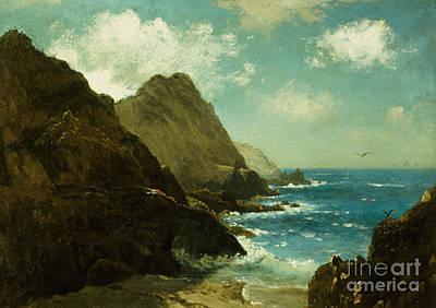 Spray Painting - Farallon Islands by Albert Bierstadt