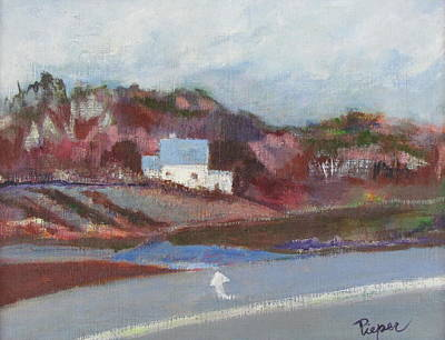 Farm House Cut Off Of Route 5 Print by Betty Pieper