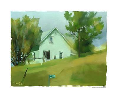 Farm House In Lucknow Ontario Print by Bob Salo