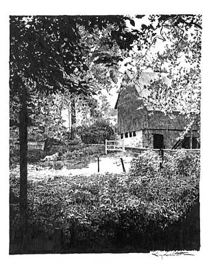 Farm In Illinois Print by Gary Gackstatter