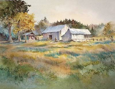 Farm On Denman Island Print by Grant Fuller
