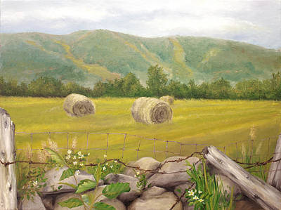 Painting - Farm Scene In Vernon by John and Lisa Strazza