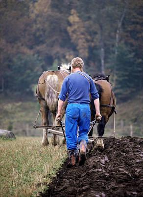 Horse-drawn Plow Photograph - Farmer Ploughing A Field by Bjorn Svensson