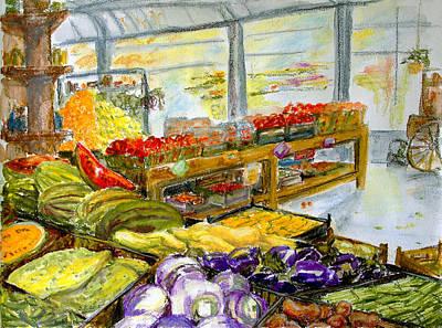 Farmer's Market In Fort Worth Texas Print by Barbara Pommerenke