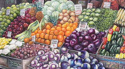Farmers Market Print by Nancy Pahl