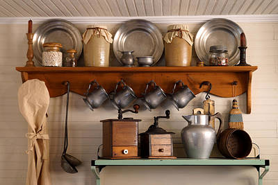 Wooden Ware Photograph - Farmhouse Collectables by Carmen Del Valle