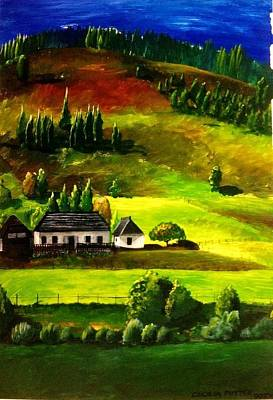 Farmstead At The Foot Of A Hill Original by Cecilia Putter