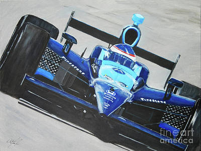 Danica Patrick Painting - Fast Girl In Your Face by William  Homeier