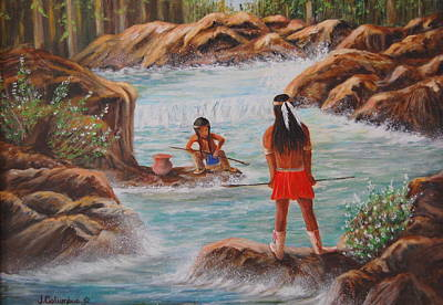 Loin-cloth Painting - Father And Son Fishing Day by Janna Columbus