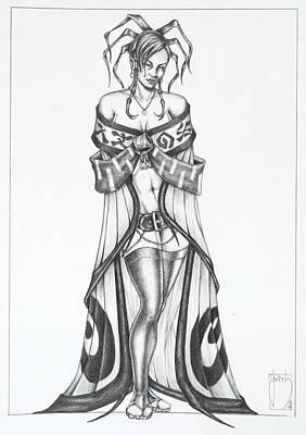Manga Drawing - Fatora - The Light Moth by Sean Smith