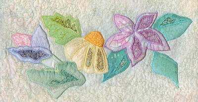 Favourite Lacy Blooms Print by Denise Hoag