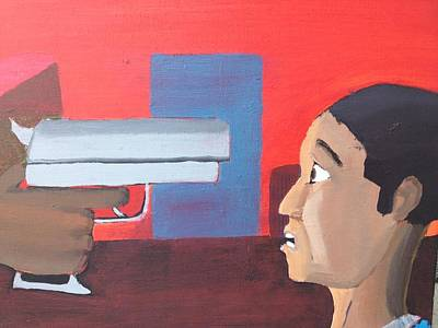 Social Commentary Painting - Fear by Brandon King